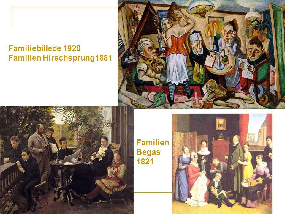 Familiebillede 1920 Familien Hirschsprung1881 Familien Begas 1821