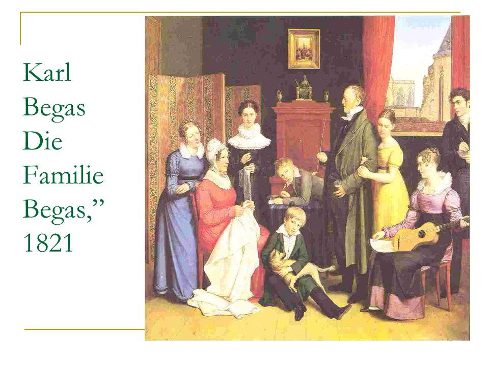 Karl Begas Die Familie Begas, 1821