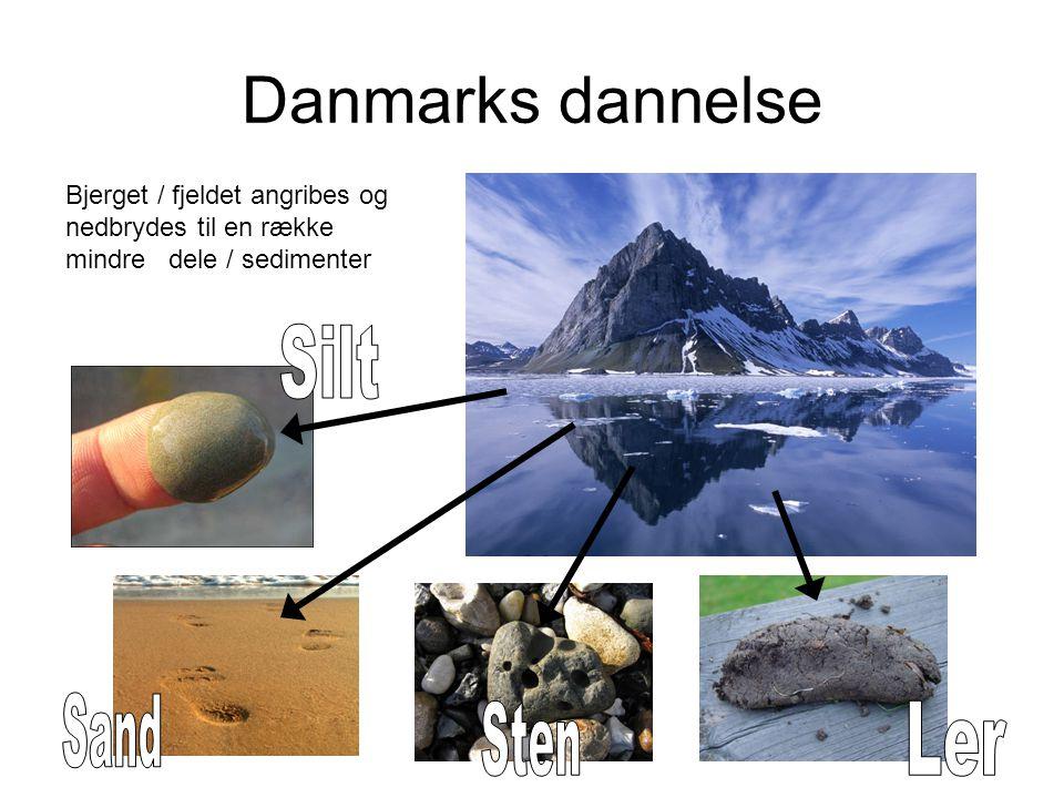Danmarks dannelse Silt Sand Sten Ler