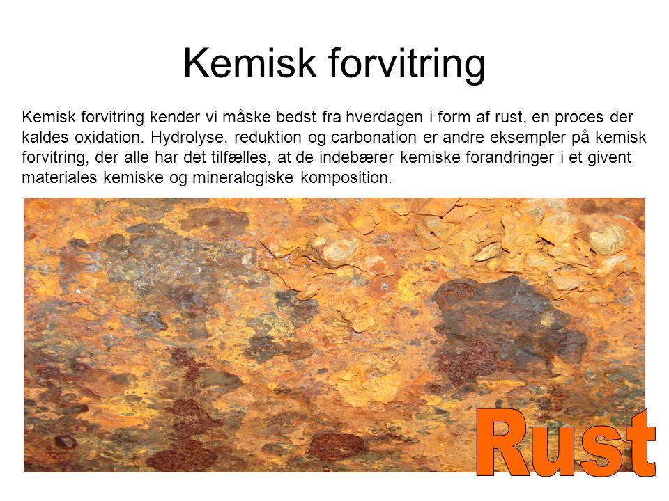 Kemisk forvitring Rust