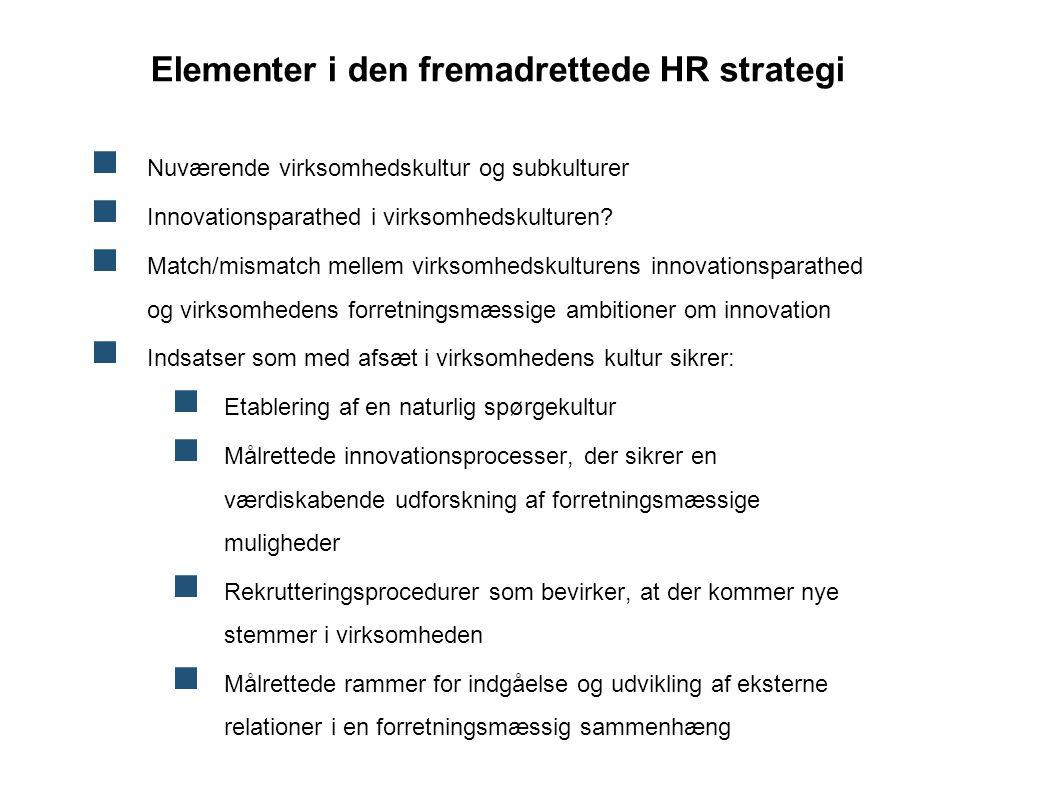 Elementer i den fremadrettede HR strategi