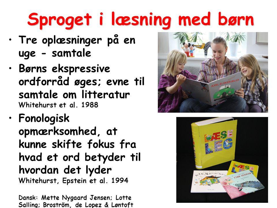 Sproget i læsning med børn