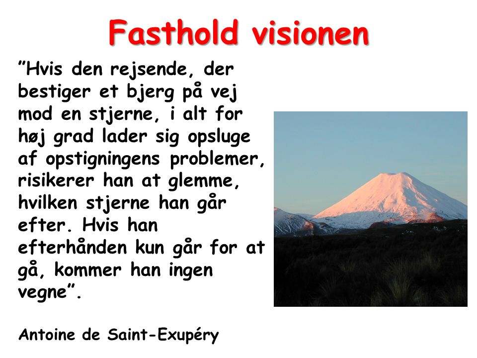 Fasthold visionen