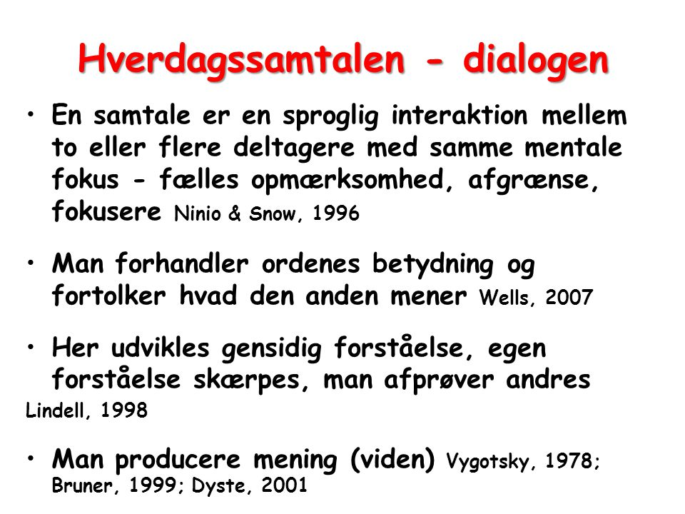 Hverdagssamtalen - dialogen
