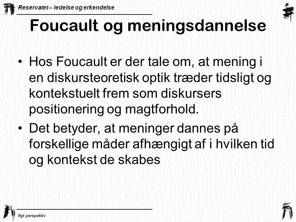 Foucault og meningsdannelse