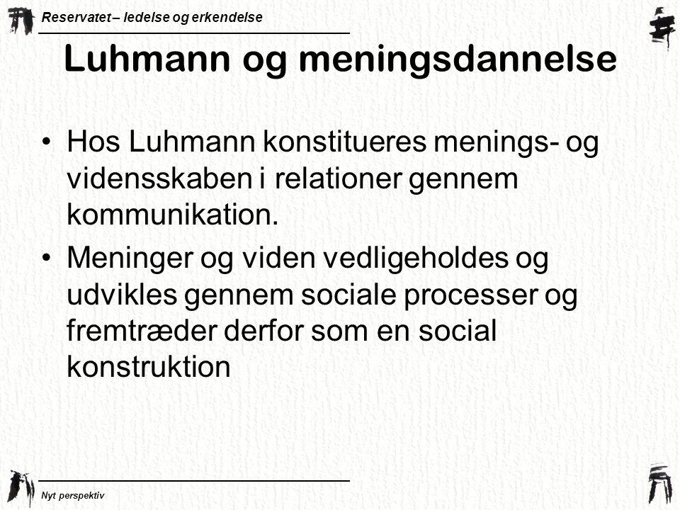 Luhmann og meningsdannelse
