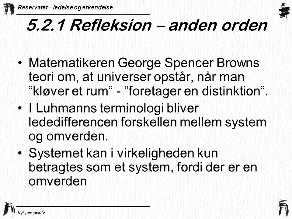 5.2.1 Refleksion – anden orden
