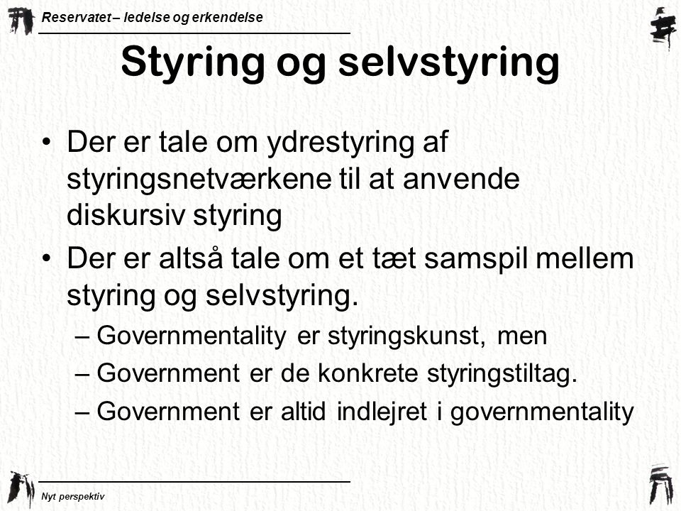 Styring og selvstyring