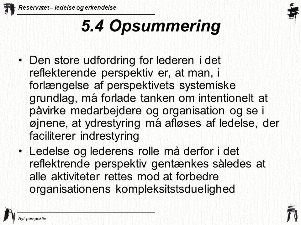 5.4 Opsummering