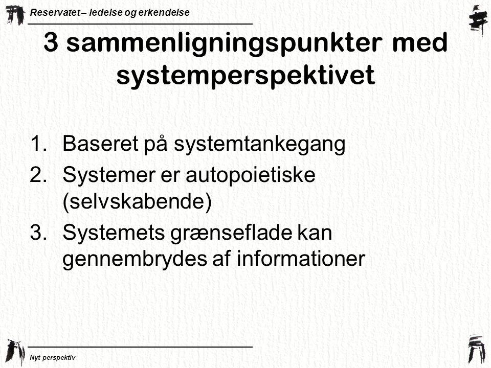 3 sammenligningspunkter med systemperspektivet