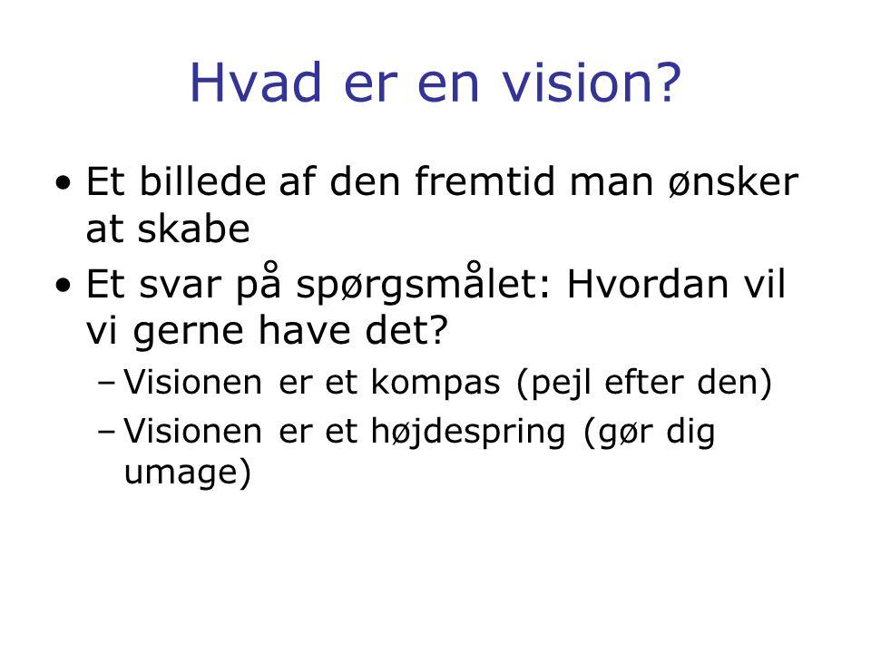 Hvad er en vision Et billede af den fremtid man ønsker at skabe