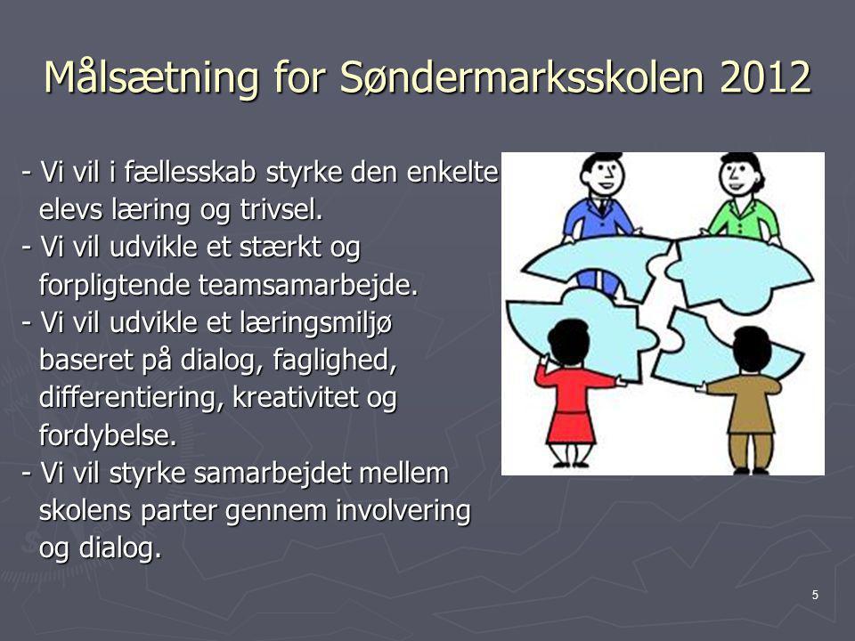 Målsætning for Søndermarksskolen 2012