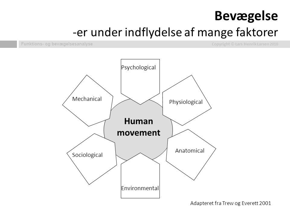 Bevægelse -er under indflydelse af mange faktorer