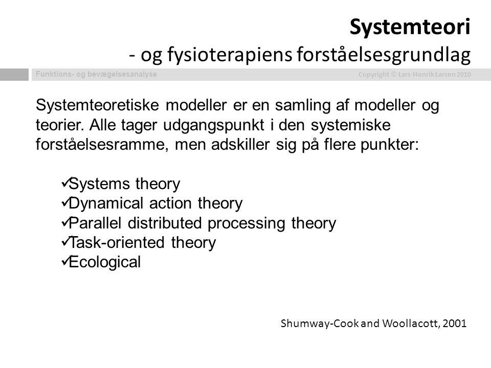 Systemteori - og fysioterapiens forståelsesgrundlag