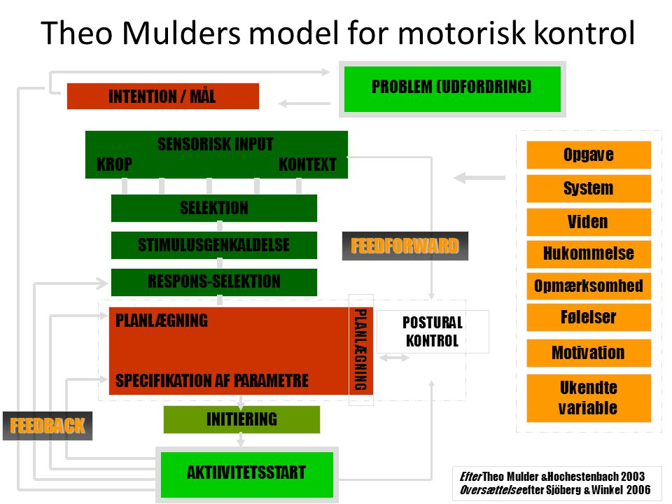 Theo Mulders model for motorisk kontrol