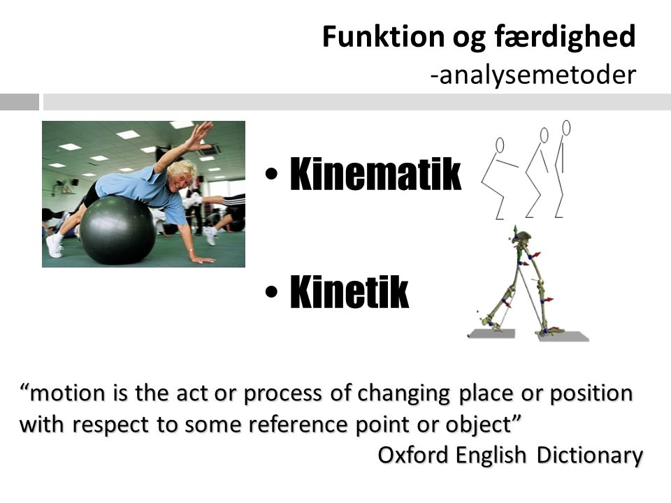 Funktion og færdighed -analysemetoder