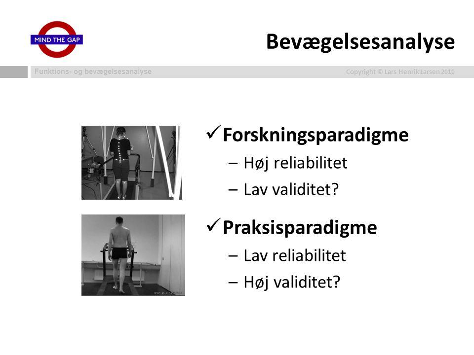 Bevægelsesanalyse Forskningsparadigme Praksisparadigme