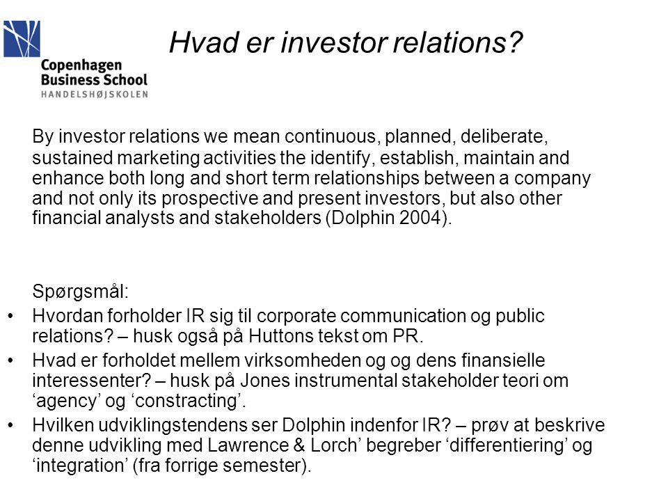Hvad er investor relations