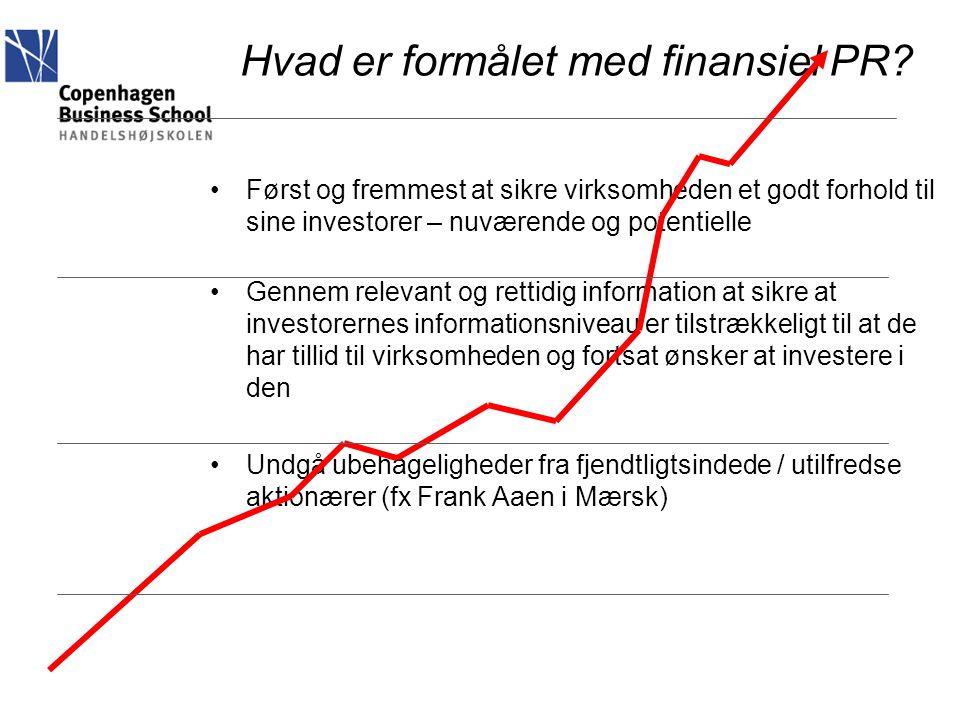 Hvad er formålet med finansiel PR
