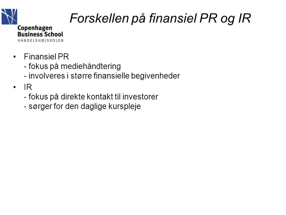 Forskellen på finansiel PR og IR