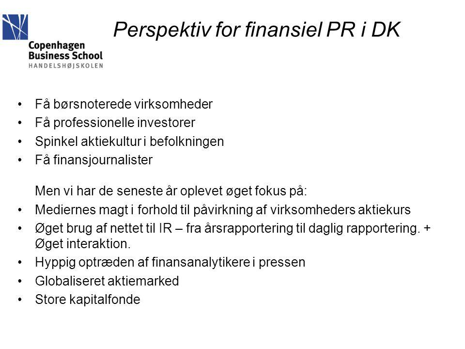 Perspektiv for finansiel PR i DK