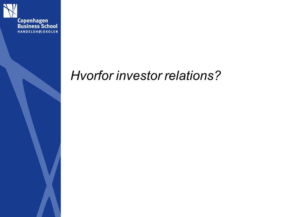 Hvorfor investor relations
