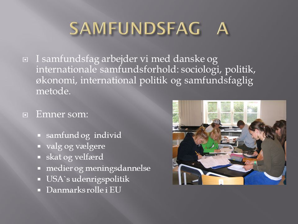 SAMFUNDSFAG A