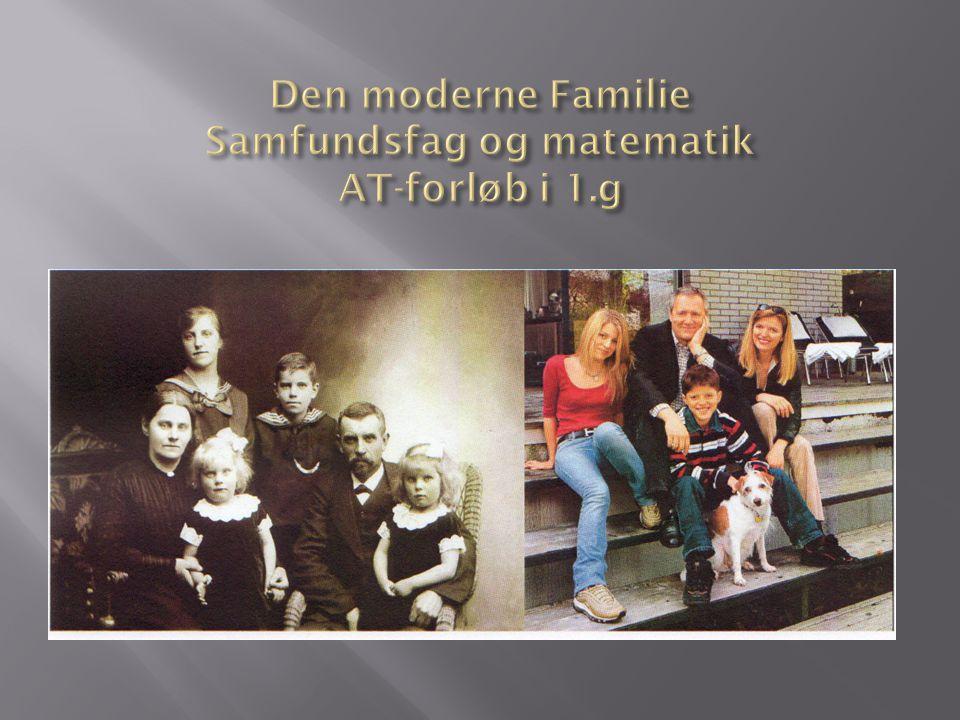 Den moderne Familie Samfundsfag og matematik AT-forløb i 1.g