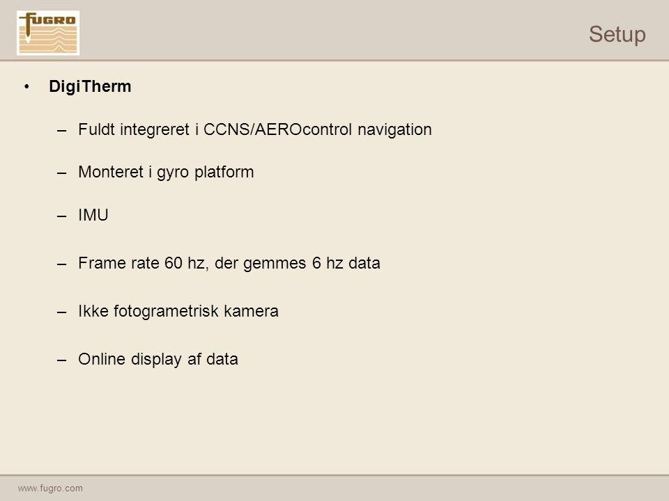 Setup DigiTherm Fuldt integreret i CCNS/AEROcontrol navigation