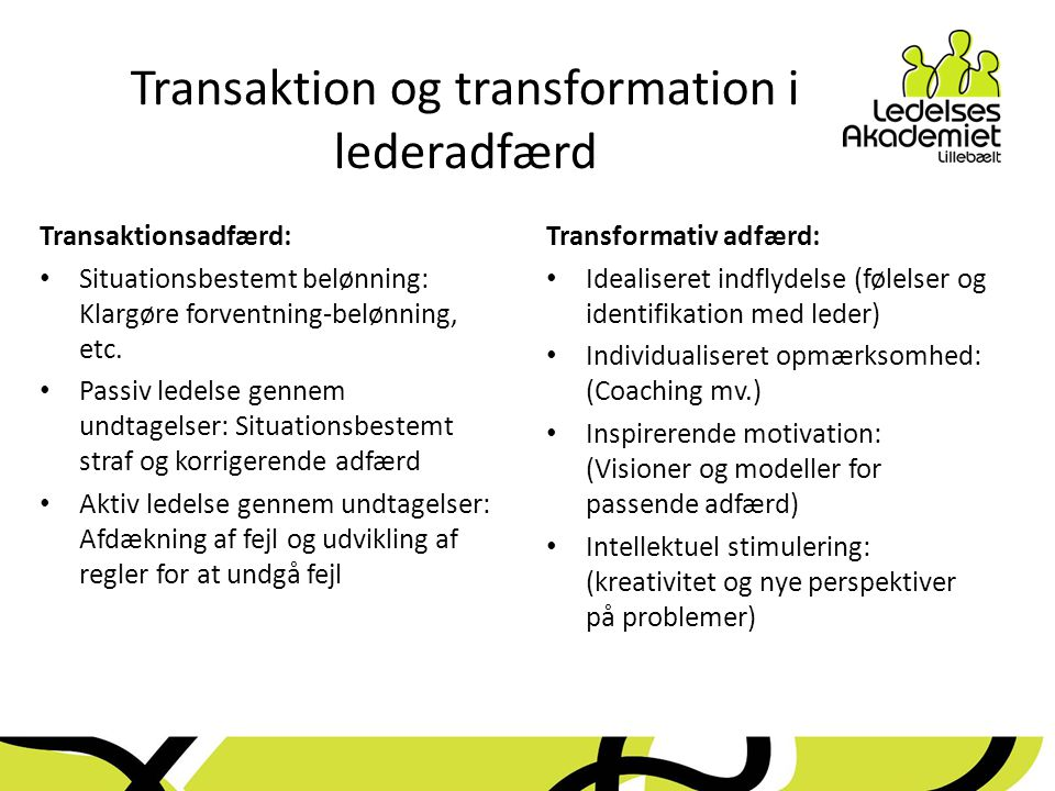 Transaktion og transformation i lederadfærd