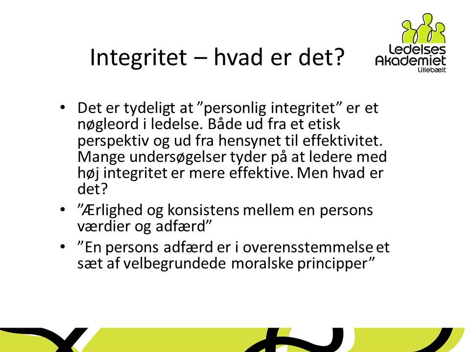 Integritet – hvad er det