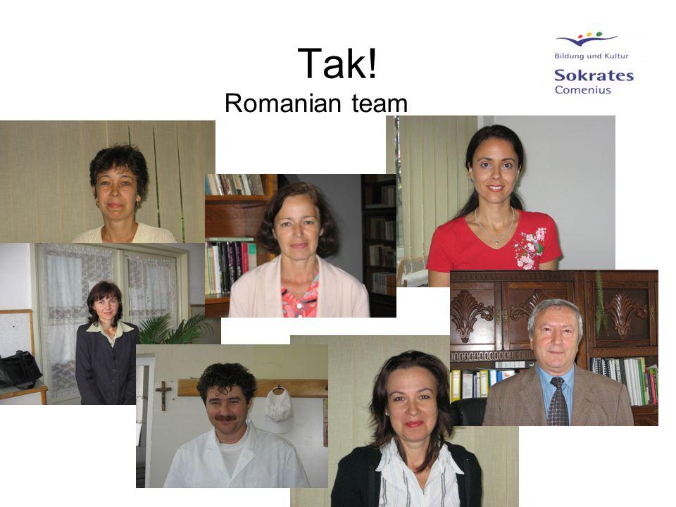 Tak! Romanian team