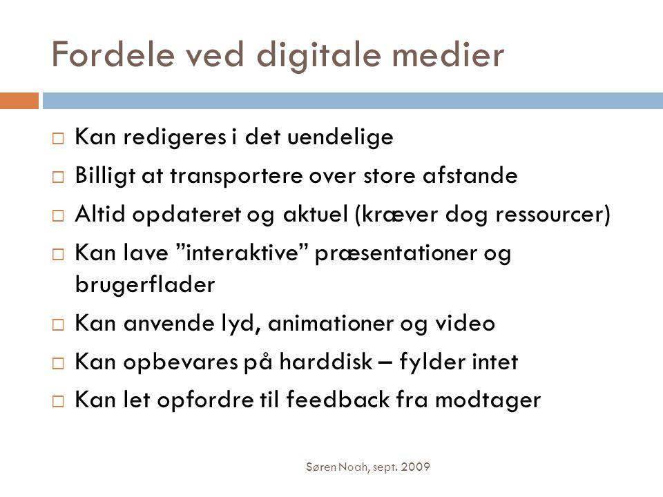 Fordele ved digitale medier