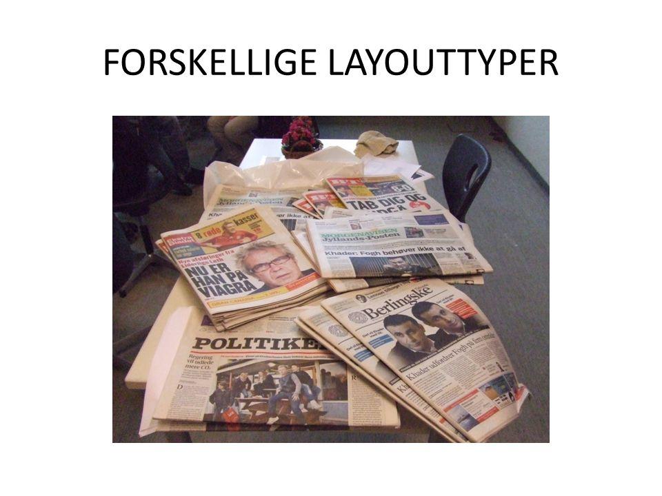FORSKELLIGE LAYOUTTYPER