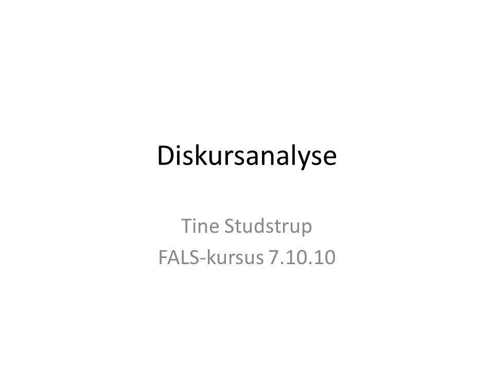 Tine Studstrup FALS-kursus 7.10.10