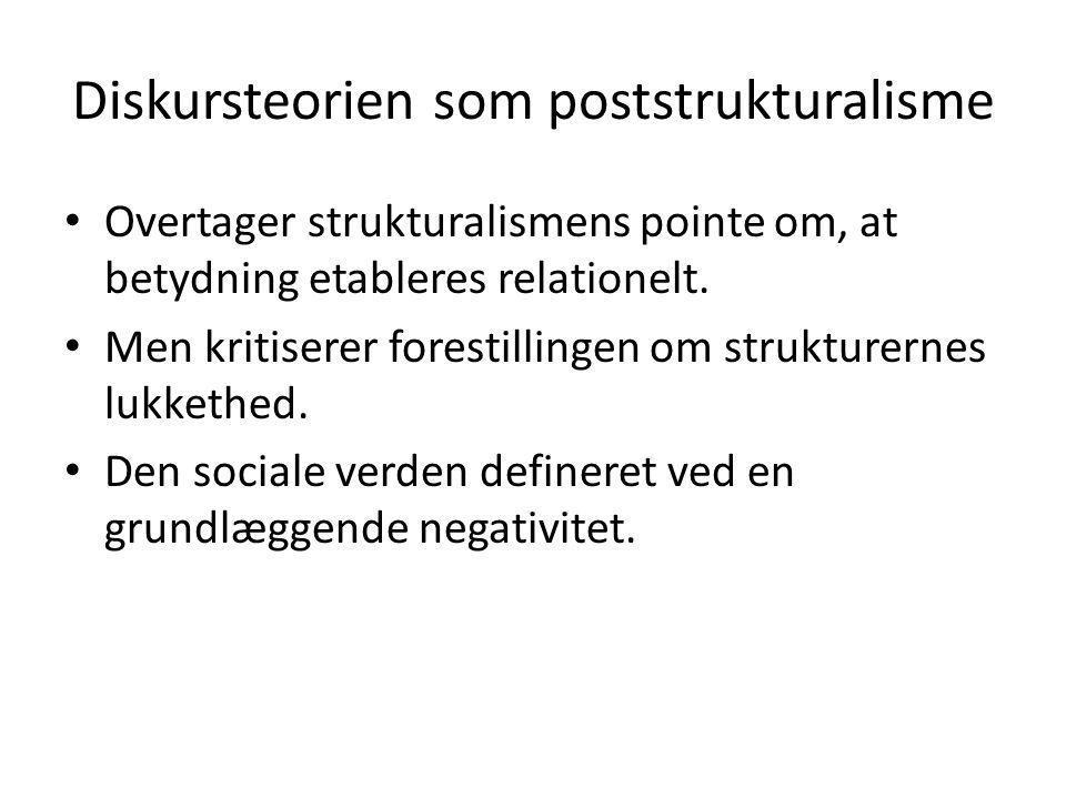 Diskursteorien som poststrukturalisme