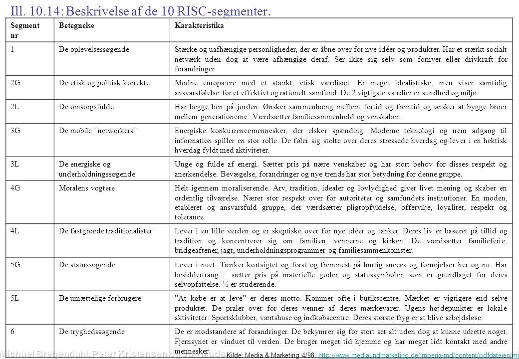 Ill. 10.14: Beskrivelse af de 10 RISC-segmenter.