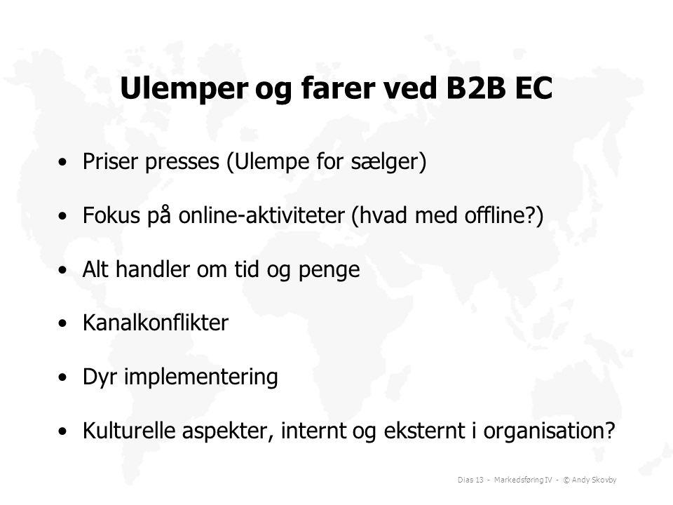 Ulemper og farer ved B2B EC