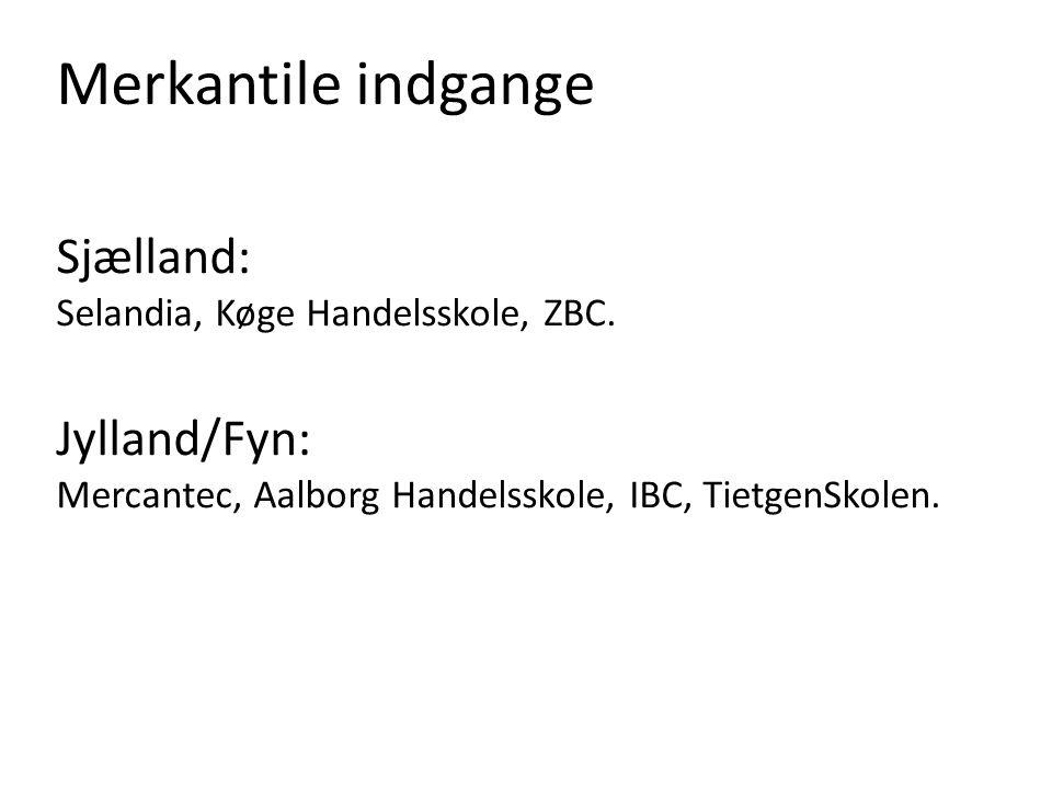 Merkantile indgange Sjælland: Selandia, Køge Handelsskole, ZBC.