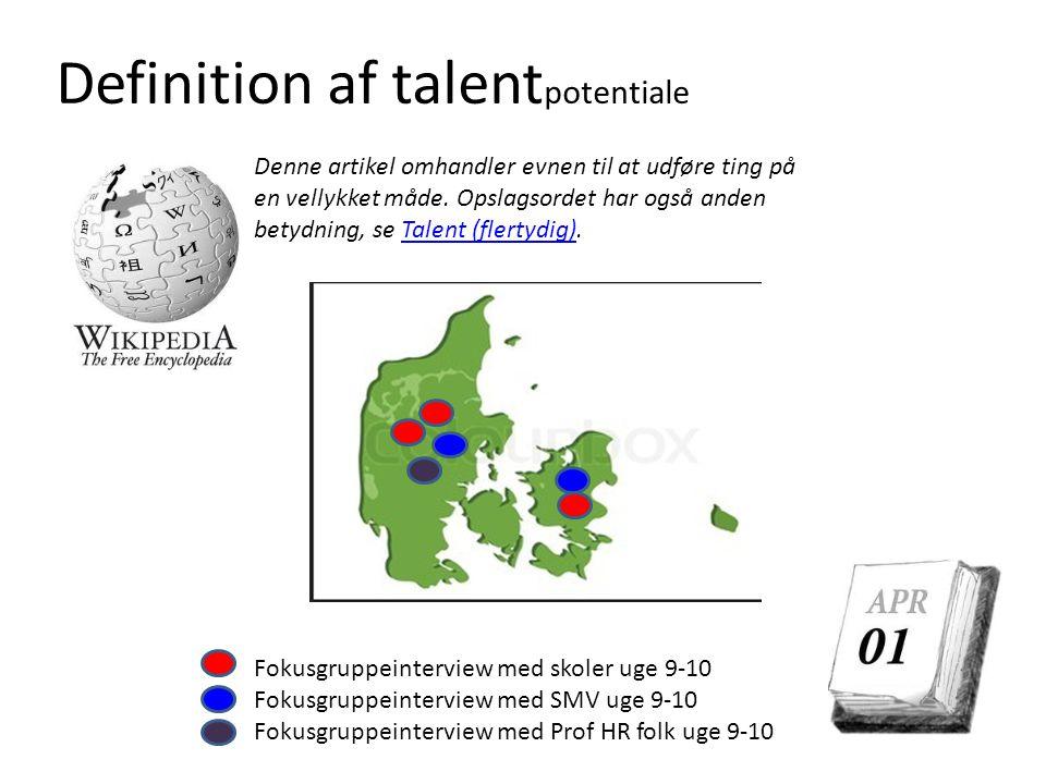 Definition af talentpotentiale
