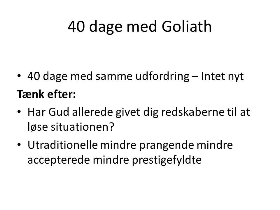 40 dage med Goliath 40 dage med samme udfordring – Intet nyt