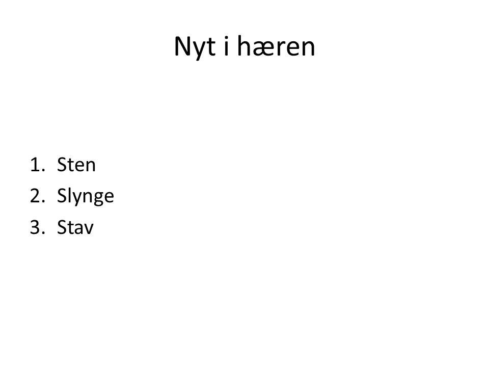 Nyt i hæren Sten Slynge Stav