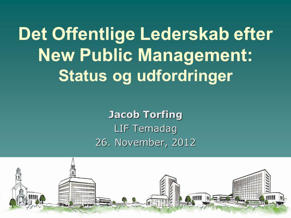 Jacob Torfing LIF Temadag 26. November, 2012