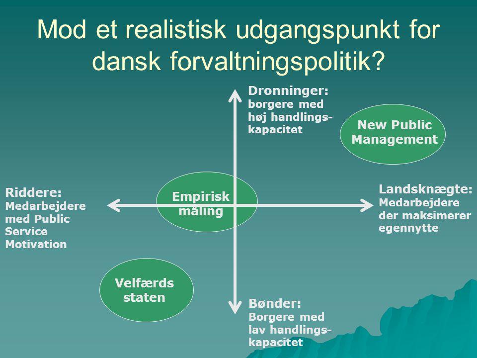 Mod et realistisk udgangspunkt for dansk forvaltningspolitik
