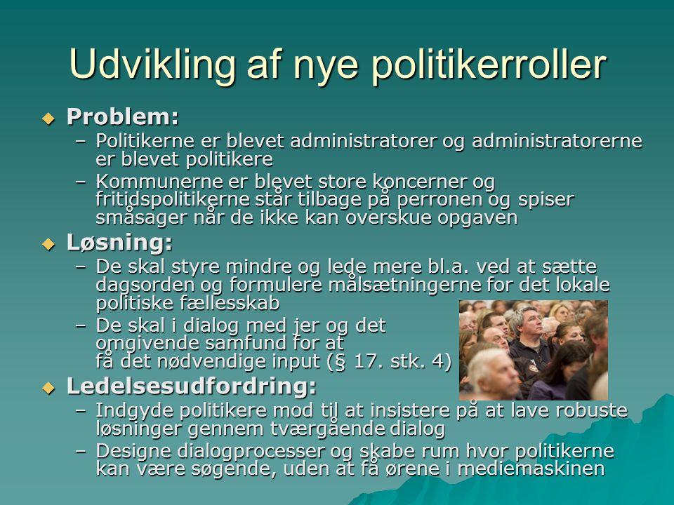 Udvikling af nye politikerroller