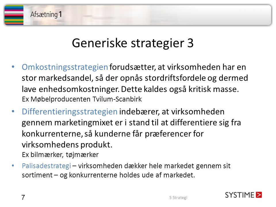 Generiske strategier 3