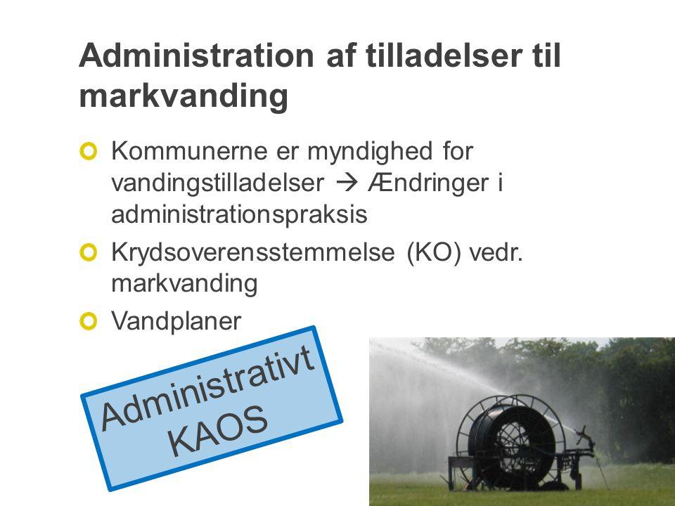 Administration af tilladelser til markvanding