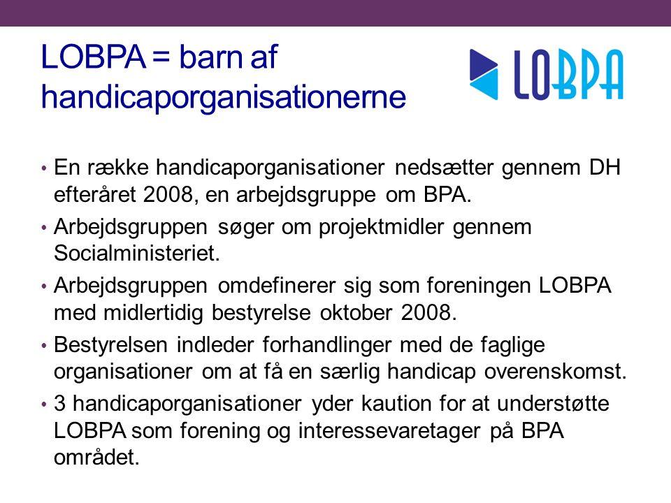 LOBPA = barn af handicaporganisationerne