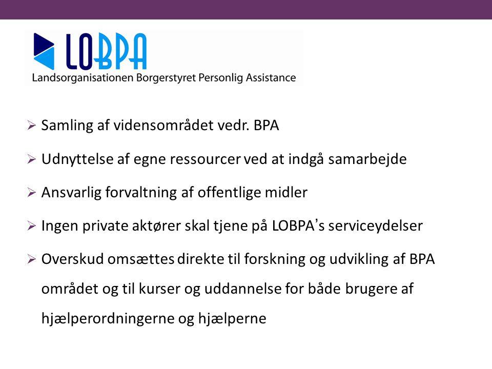 Samling af vidensområdet vedr. BPA