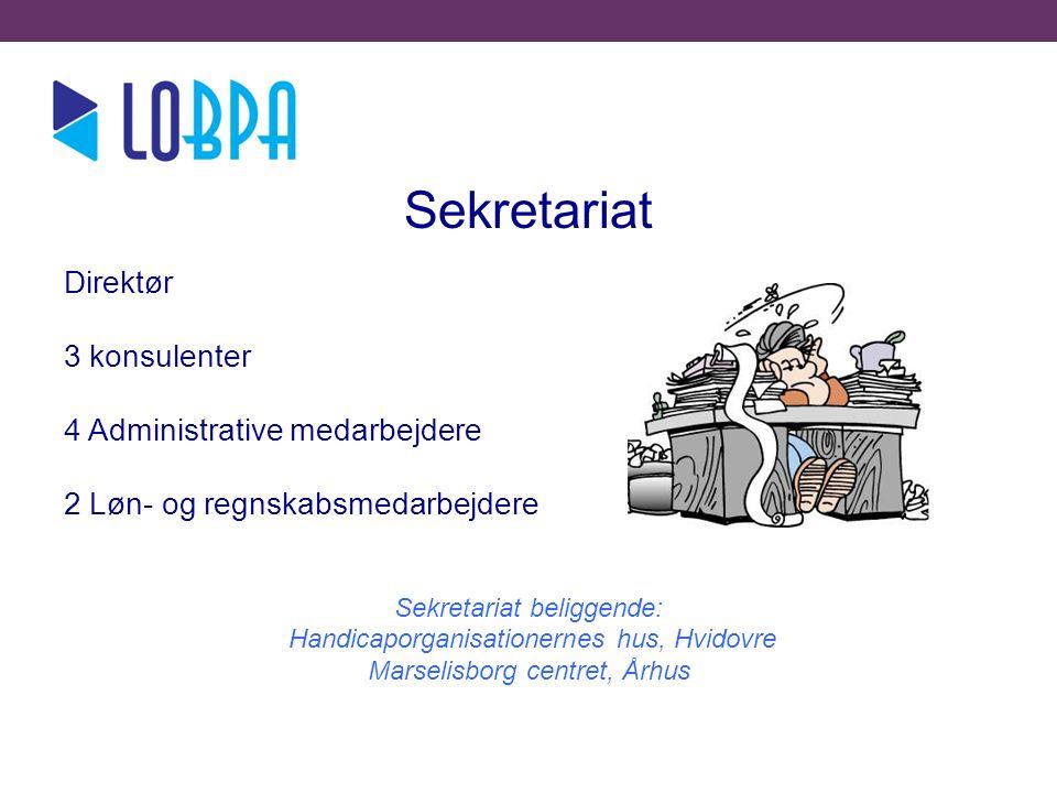 l Sekretariat Direktør 3 konsulenter 4 Administrative medarbejdere